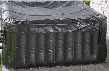 Wonderwave  inflatable 4 person 140 jet  Square Hot Tub Spa in black with Free Chemicals